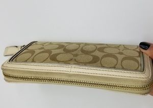 Coach Bags - Coach Signature Canvas Zip Around Wallet